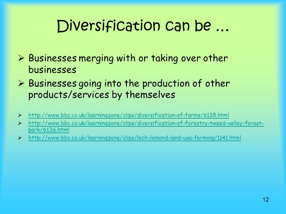 Diversification can be …