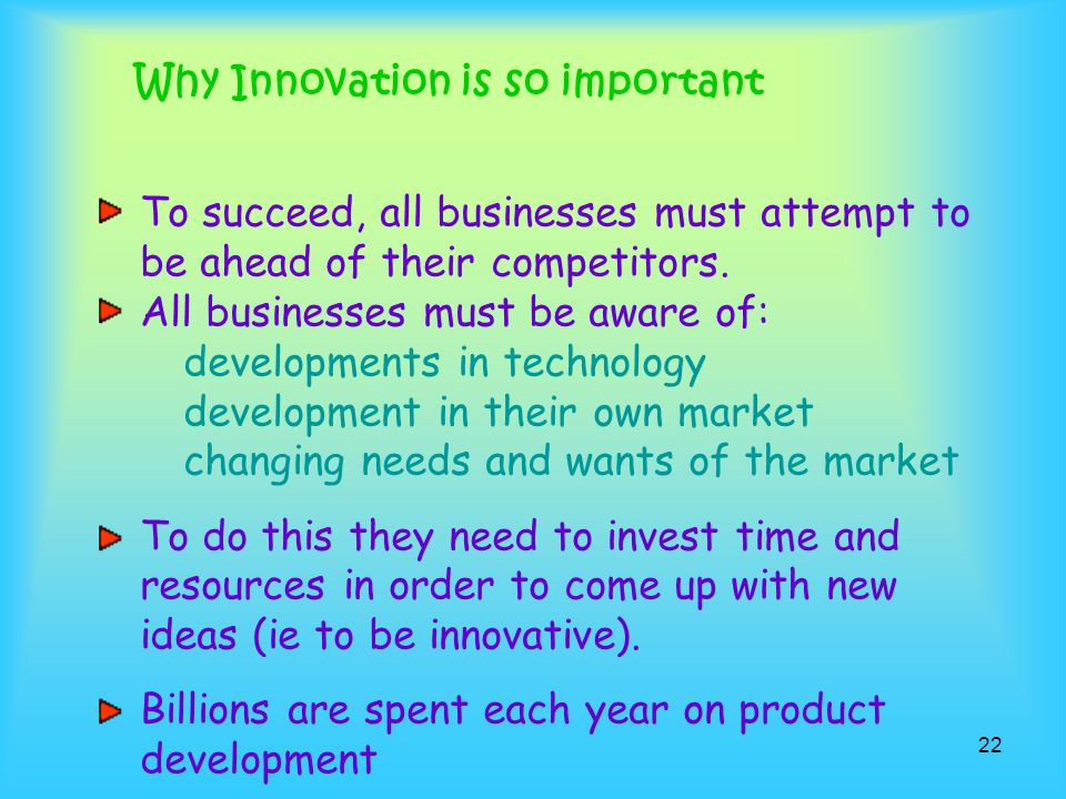 Why Innovation is so important