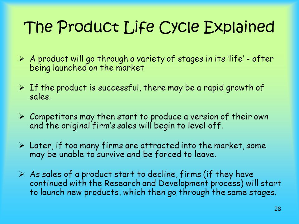 The Product Life Cycle Explained