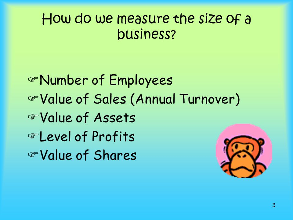 How do we measure the size of a business