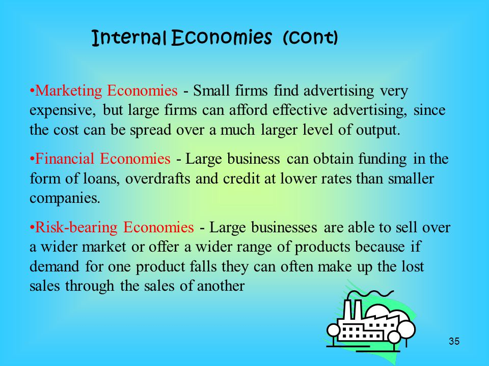 Internal Economies (cont)