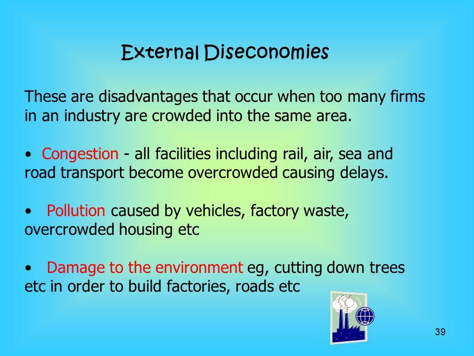 External Diseconomies