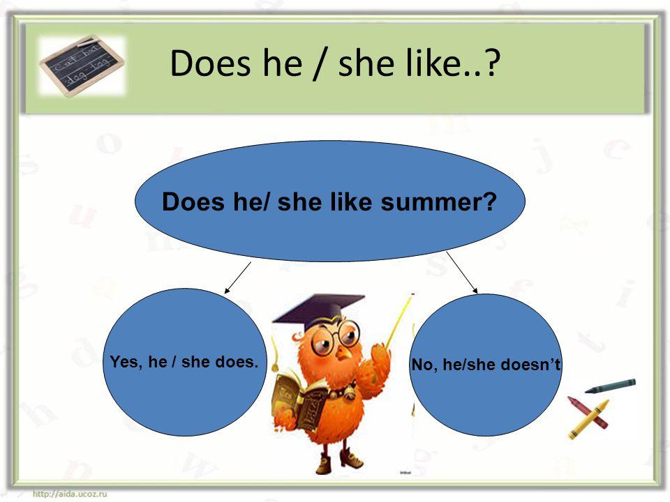 Does he/ she like summer