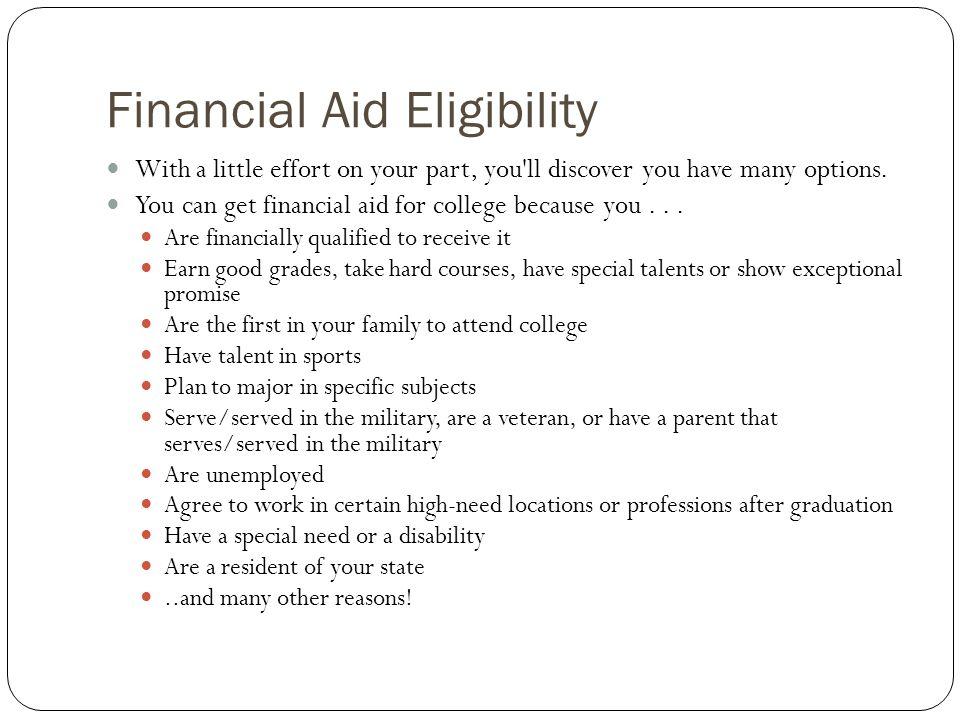Financial Aid Eligibility