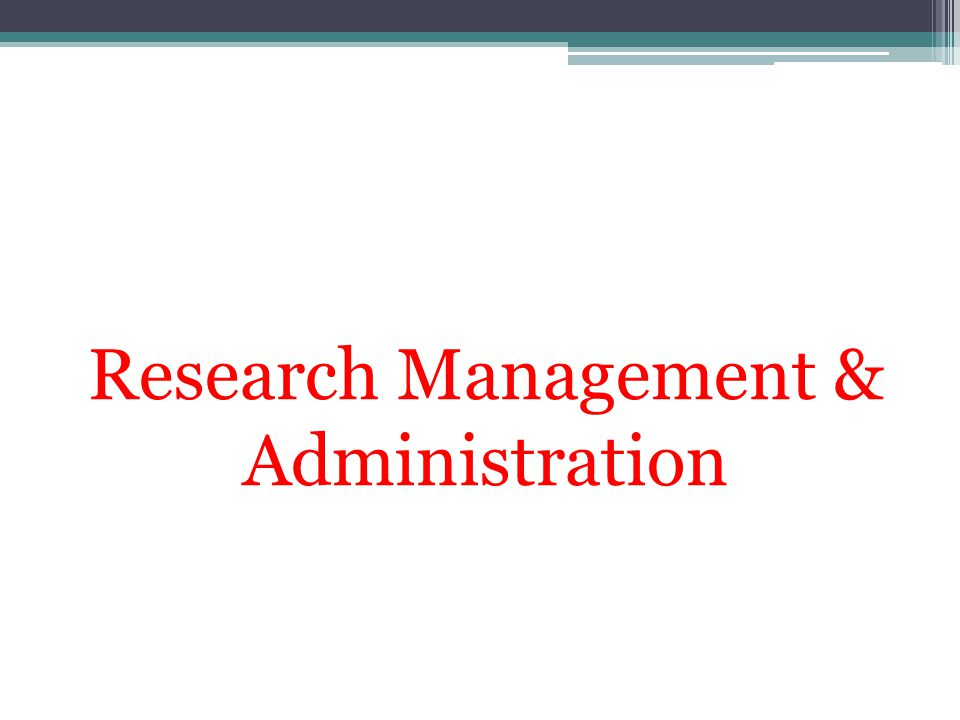 Research Management & Administration