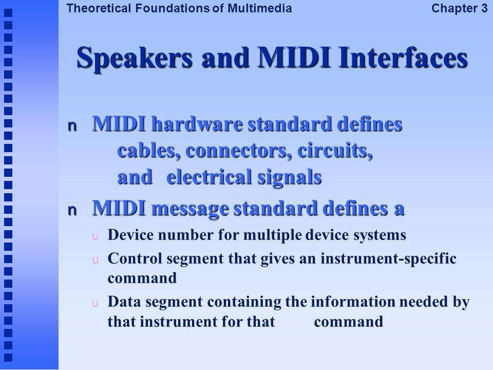 Speakers and MIDI Interfaces
