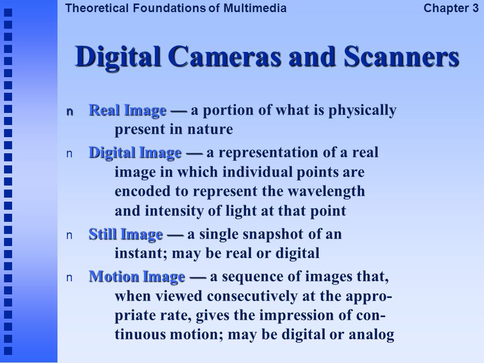 Digital Cameras and Scanners