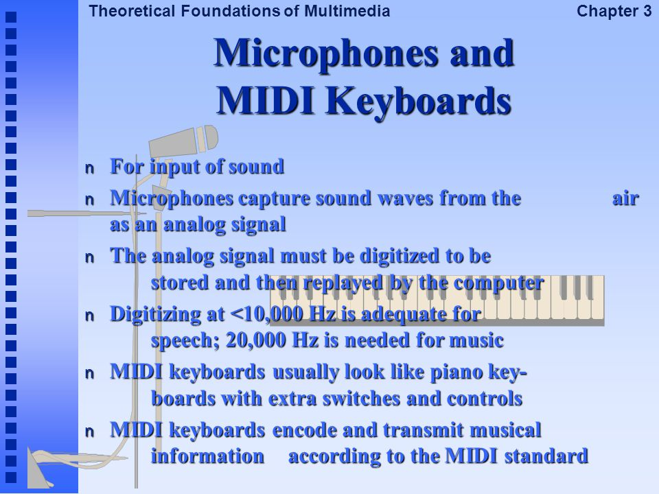 Microphones and MIDI Keyboards