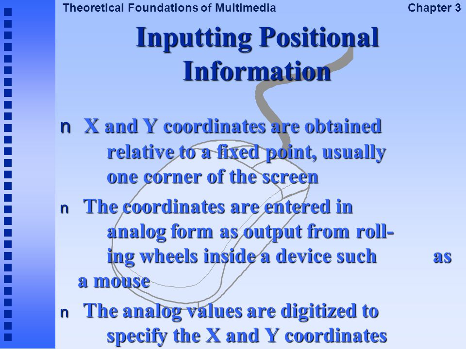 Inputting Positional Information