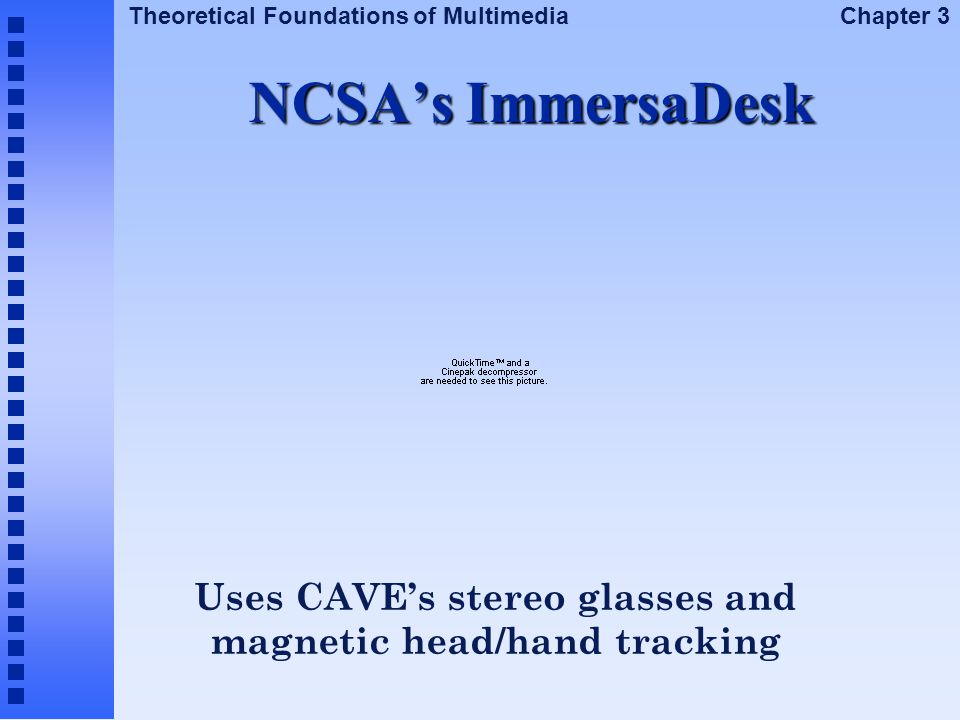 Uses CAVE's stereo glasses and magnetic head/hand tracking