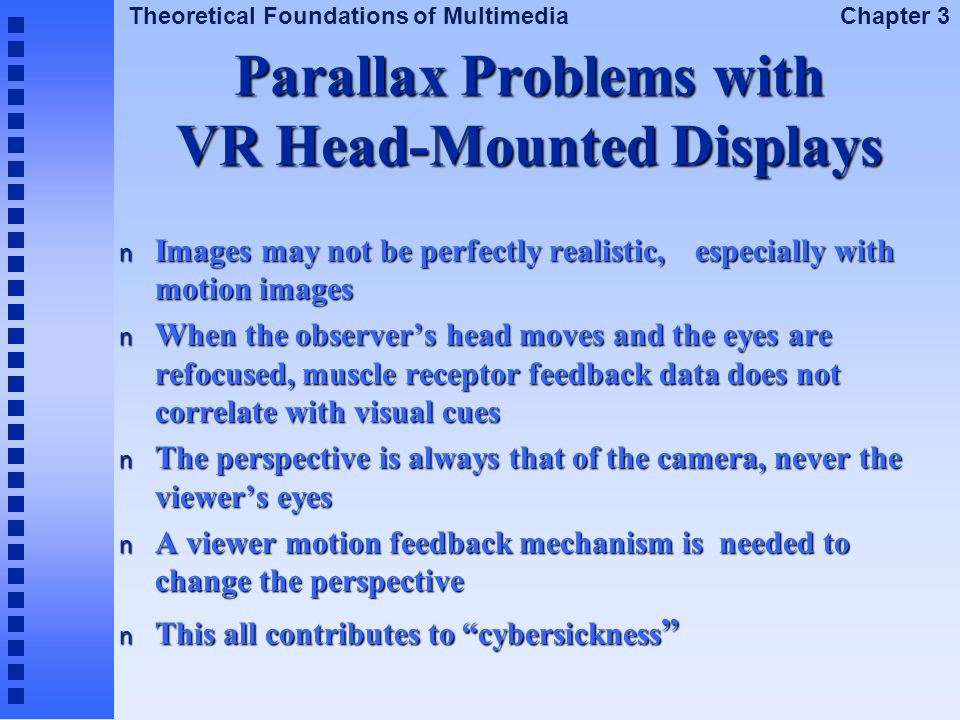 Parallax Problems with VR Head-Mounted Displays