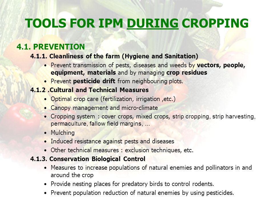 Tools for IPM during Cropping