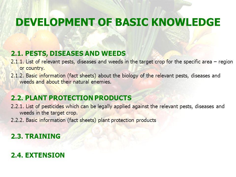 Development of Basic Knowledge