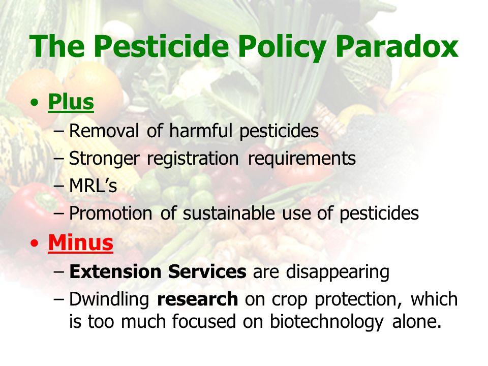 The Pesticide Policy Paradox