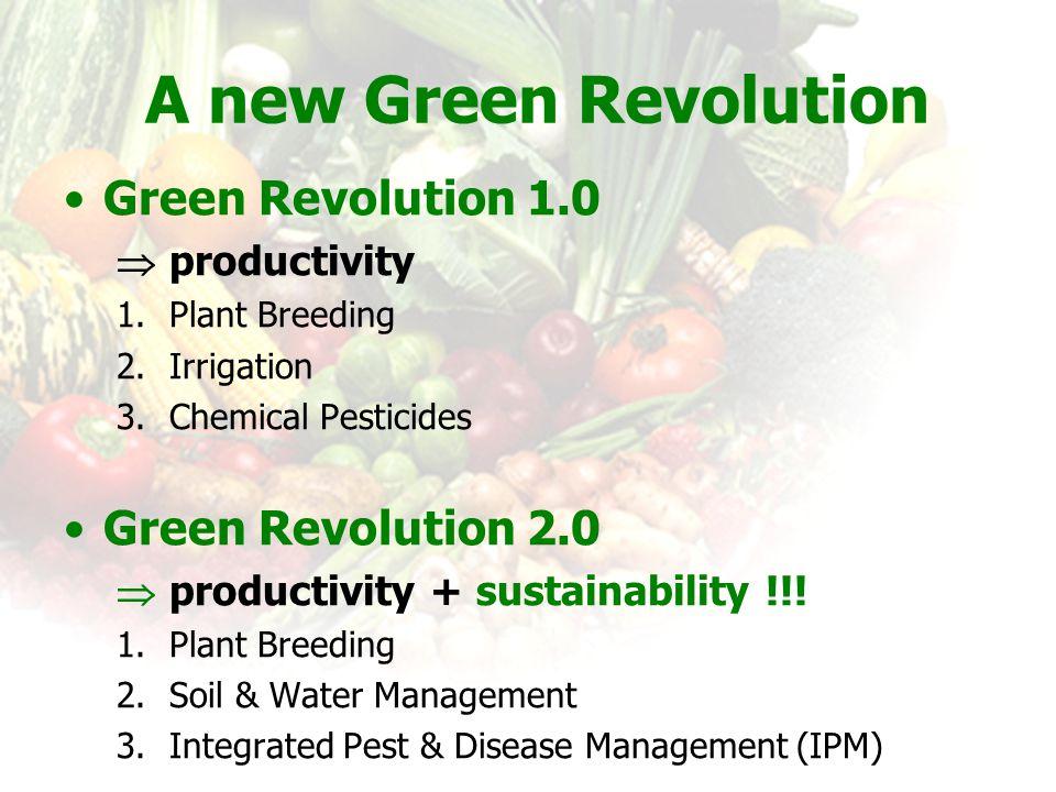 A new Green Revolution Green Revolution 1.0 Green Revolution 2.0