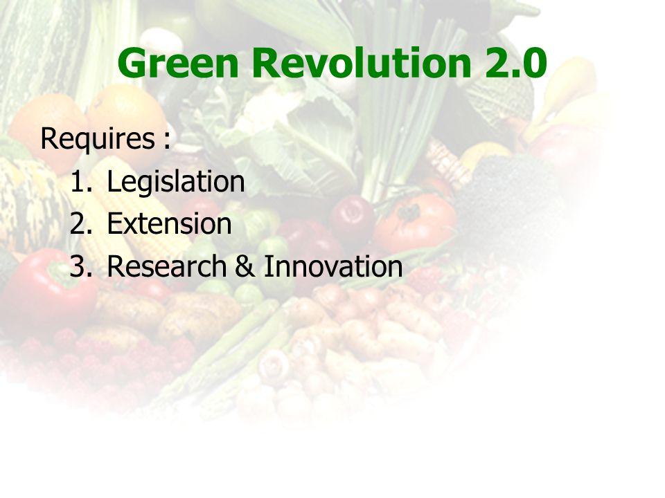 Green Revolution 2.0 Requires : Legislation Extension