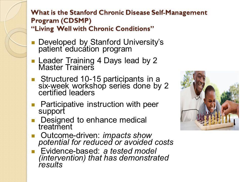 Developed by Stanford University's patient education program