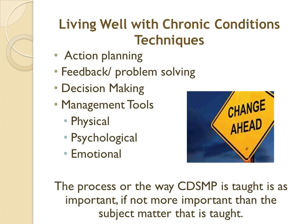 Living Well with Chronic Conditions Techniques