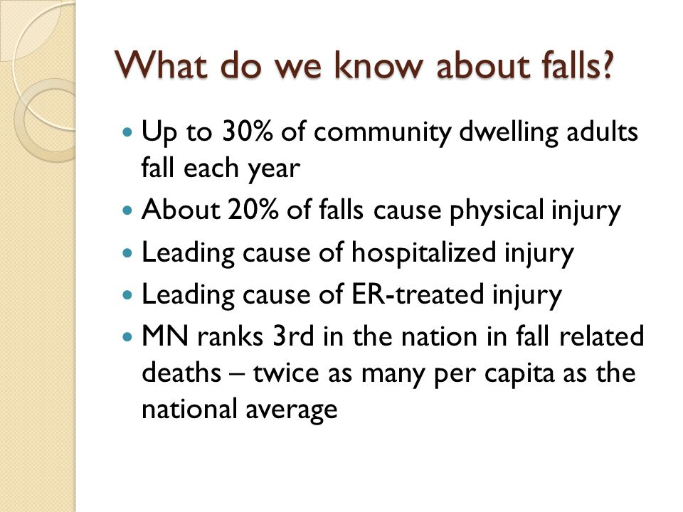 What do we know about falls