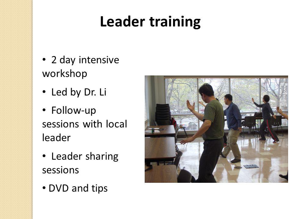 Leader training 2 day intensive workshop Led by Dr. Li