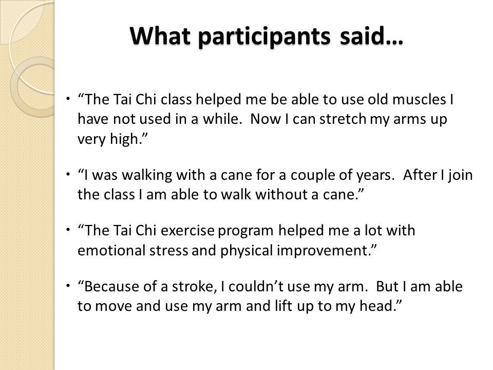 What participants said…