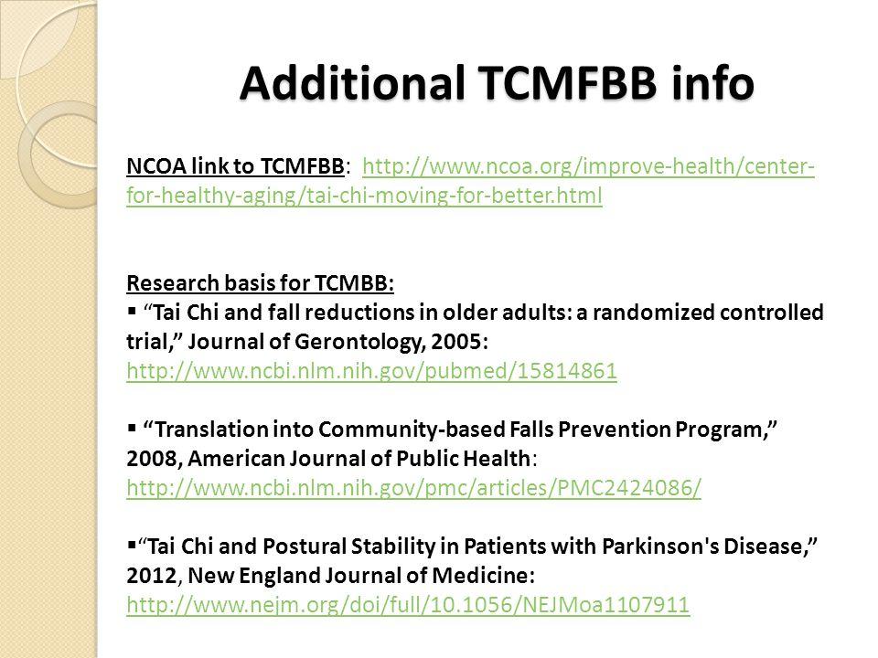 Additional TCMFBB info