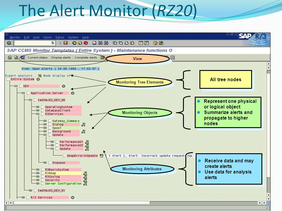 Monitoring Tree Elements Monitoring Attributes