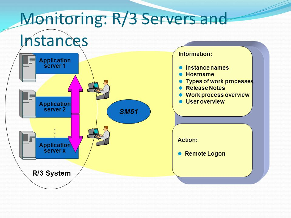 Monitoring: R/3 Servers and Instances