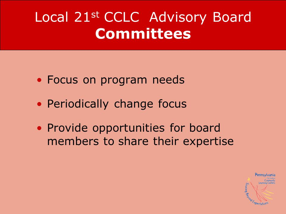 Local 21st CCLC Advisory Board Committees