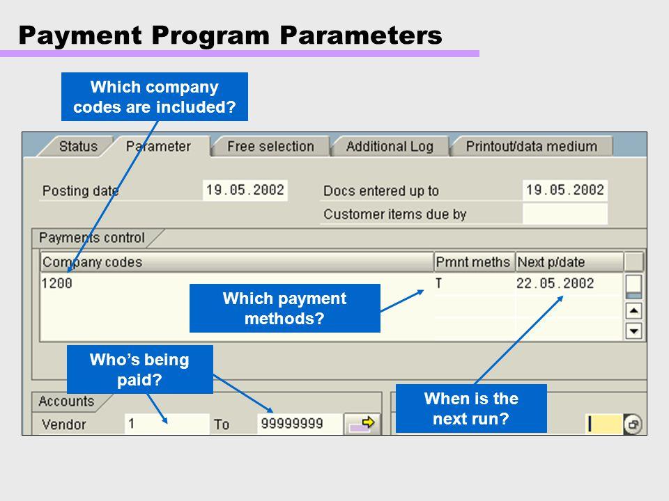 Payment Program Parameters