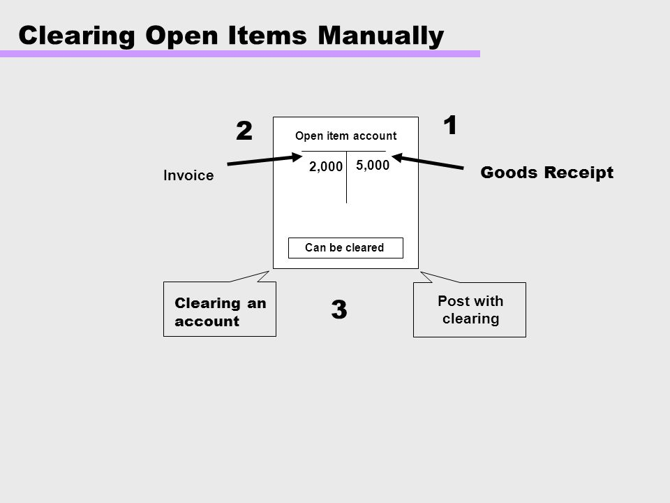 Clearing Open Items Manually