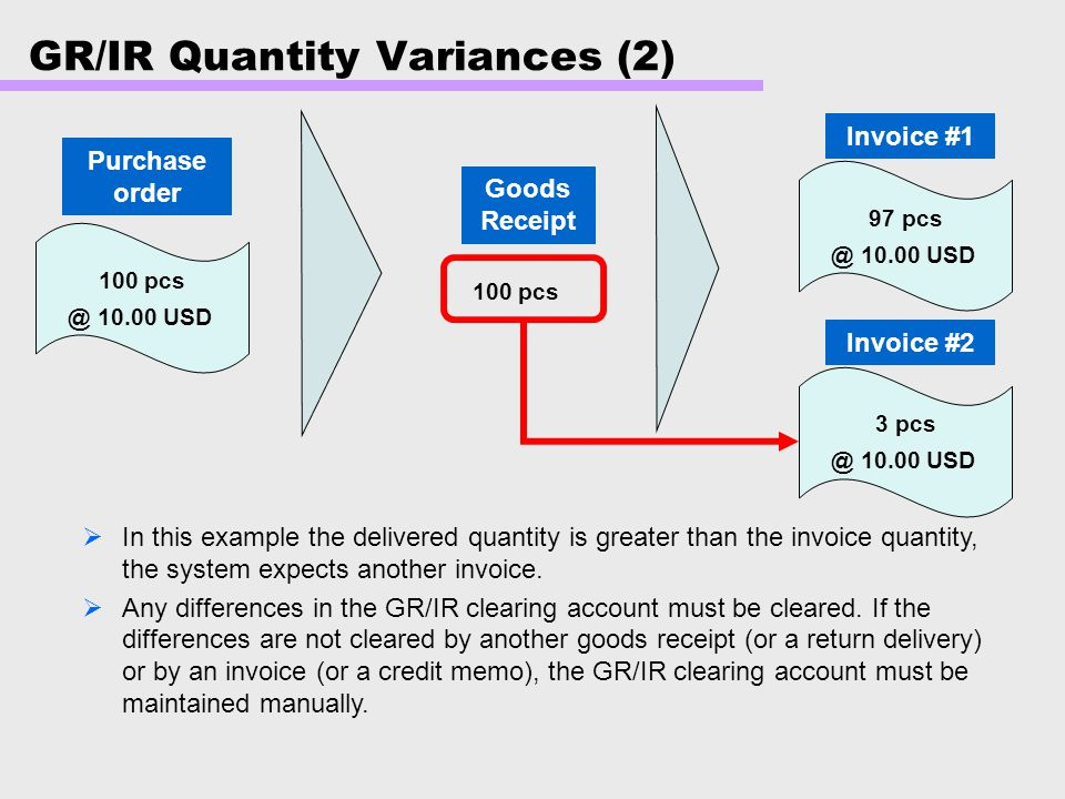 GR/IR Quantity Variances (2)