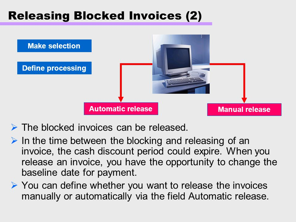 Releasing Blocked Invoices (2)