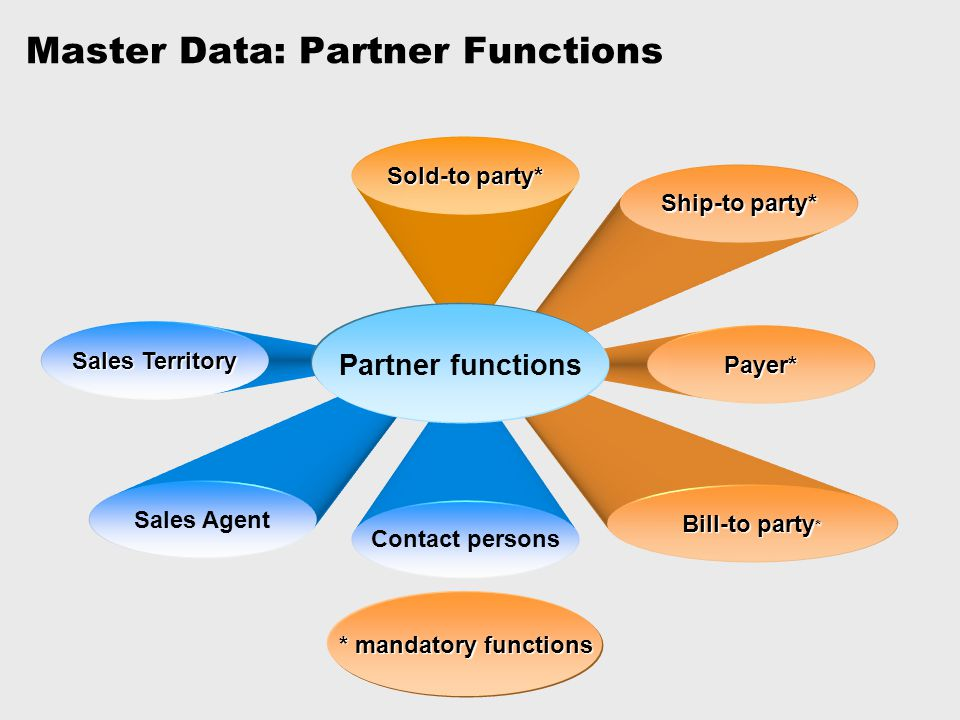 Master Data: Partner Functions