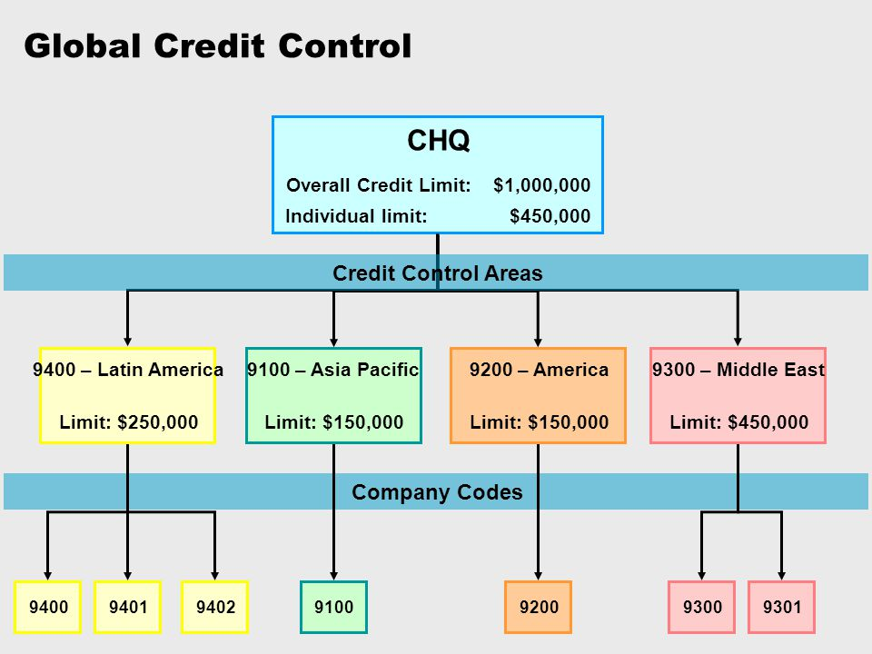 Overall Credit Limit: $1,000,000