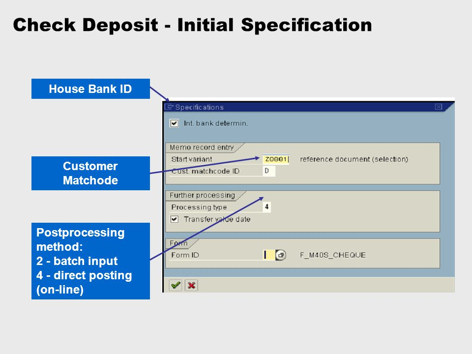 Check Deposit - Initial Specification