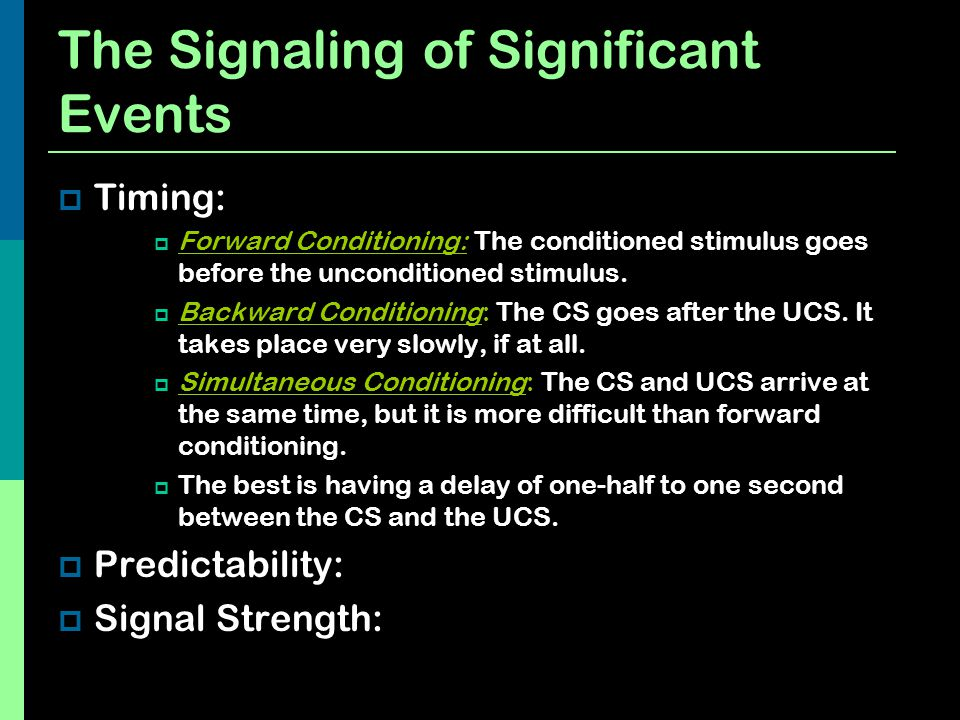 The Signaling of Significant Events