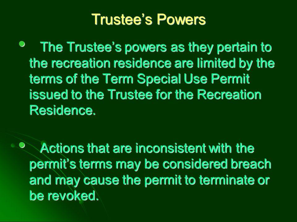 Trustee's Powers