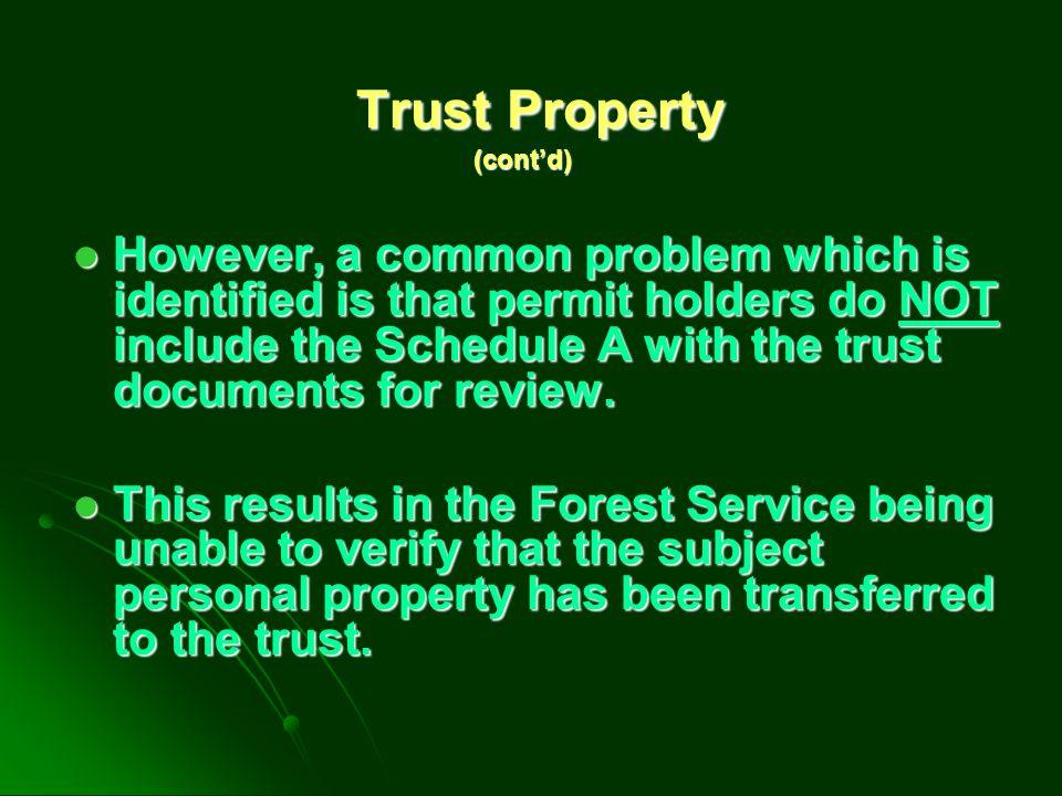 Trust Property (cont'd)