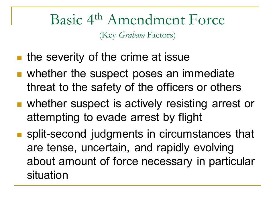 Basic 4th Amendment Force (Key Graham Factors)