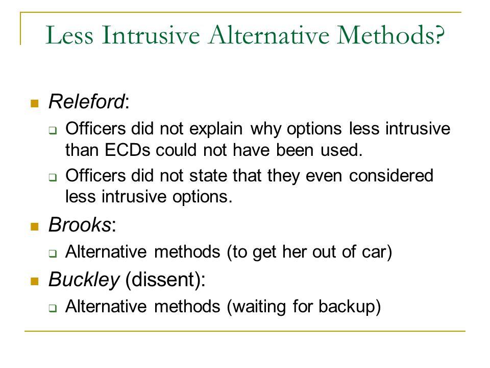 Less Intrusive Alternative Methods