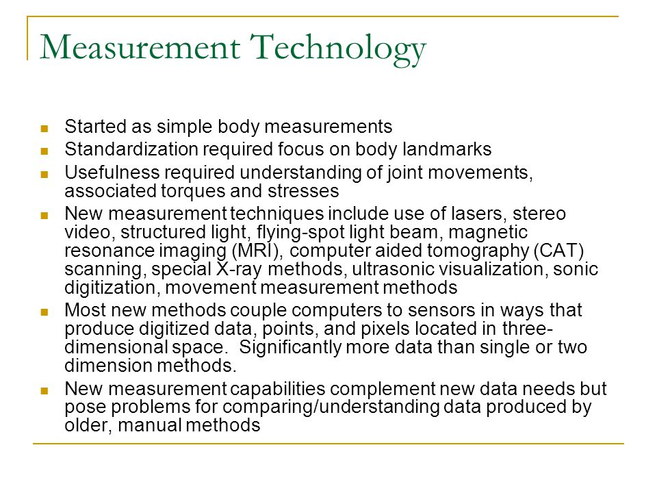 Measurement Technology