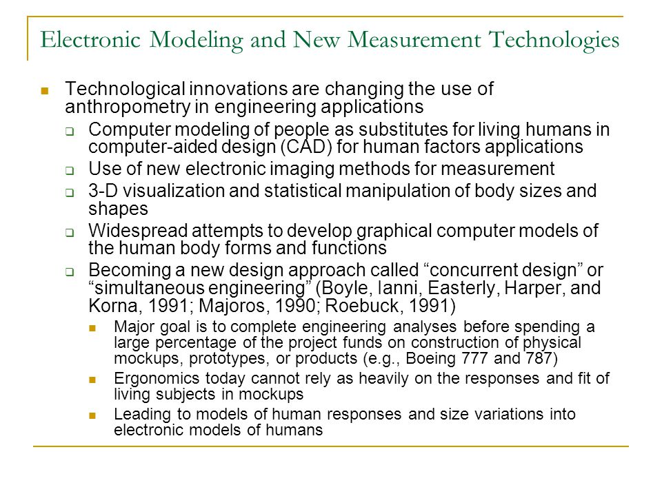 Electronic Modeling and New Measurement Technologies