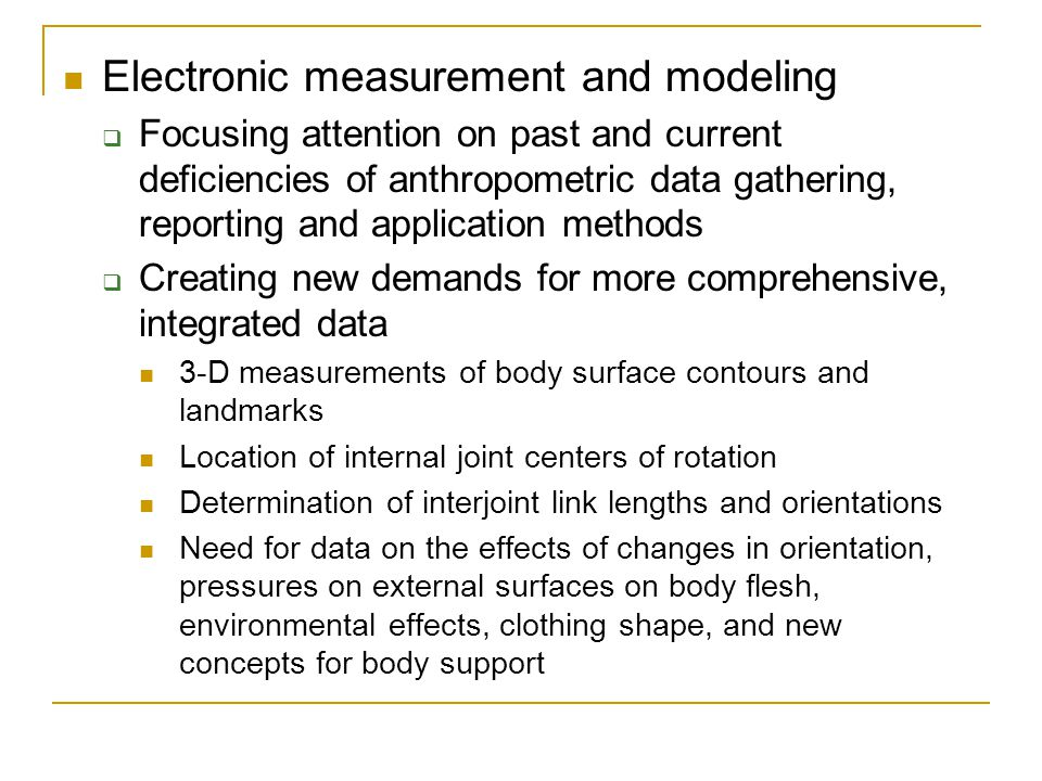 Electronic measurement and modeling