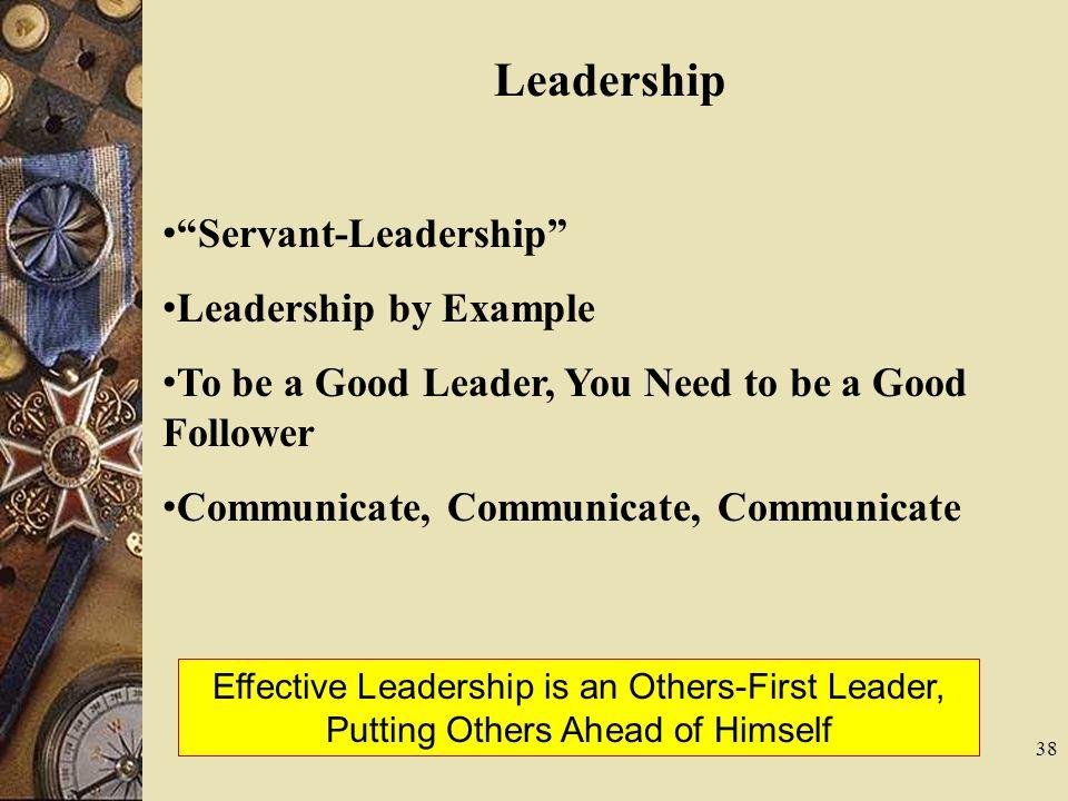 Leadership Servant-Leadership Leadership by Example