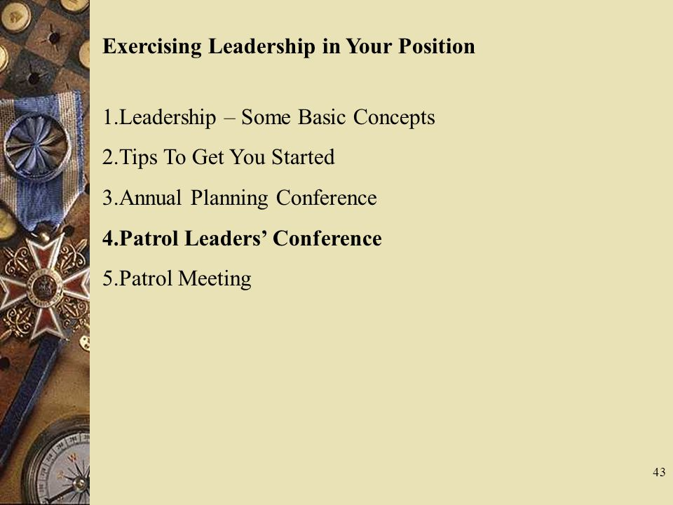 Exercising Leadership in Your Position