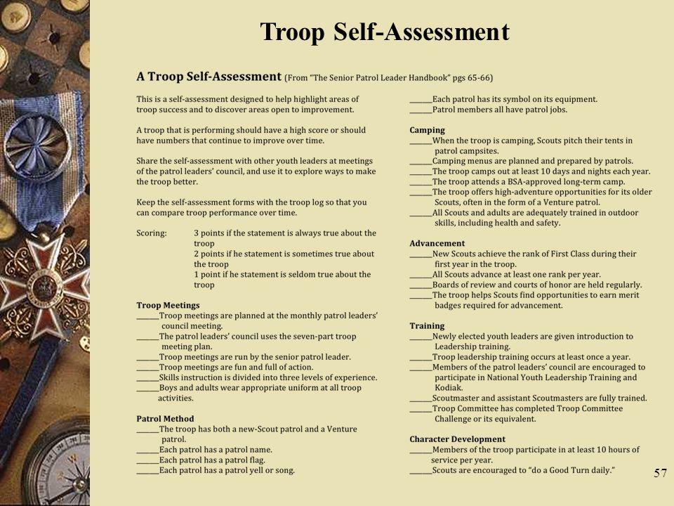 Troop Self-Assessment