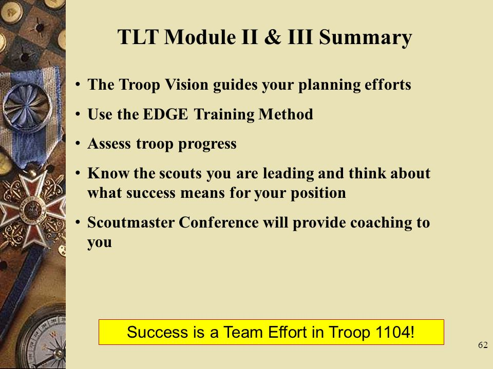 TLT Module II & III Summary