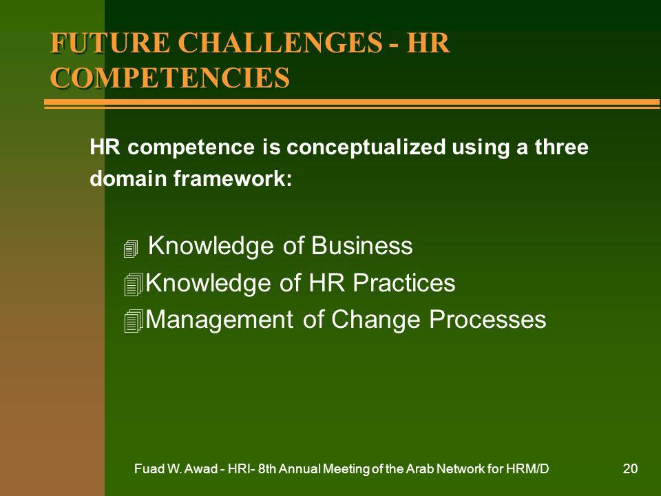 FUTURE CHALLENGES - HR COMPETENCIES