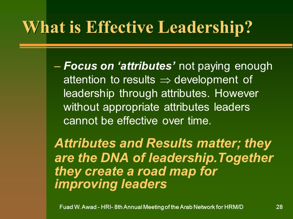 What is Effective Leadership